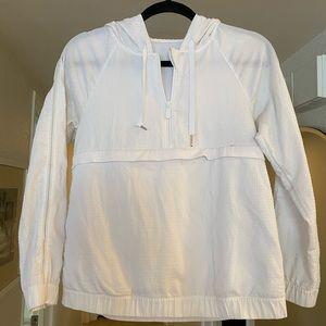 White Lululemon Bomber Jacket